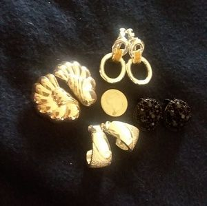 Bundle of Vintage Clip-On Earrings